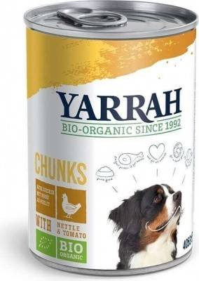 Pâtée bio Yarrah pour chien adulte