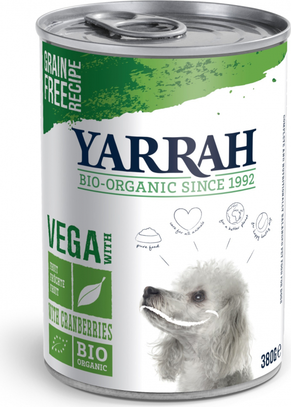 Patè YARRAH Vega Bio 380g Senza Cereali per Cani Adulti