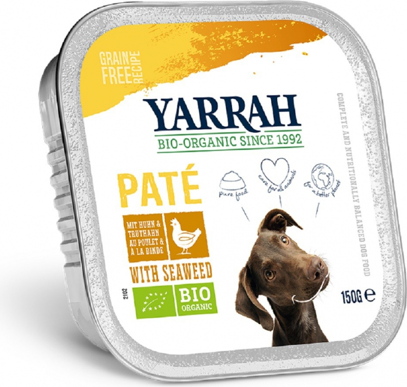 Patè Yarrah Bio 150g Senza Cereali Per Cani Adulti - 3 gusti a scelta
