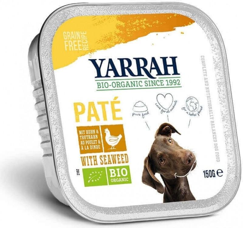 Pâtée Yarrah Bio 150g Sans Céréales pour Chien Adulte - 3 saveurs au choix