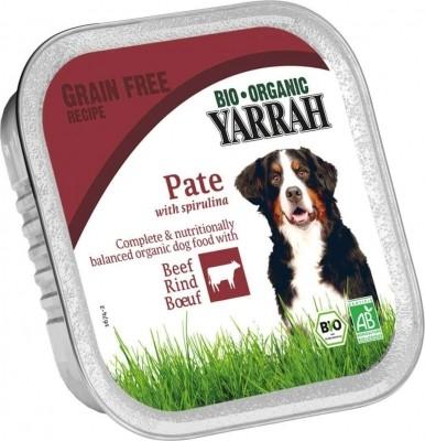 Yarrah pâtées sans céréales bio pour chien