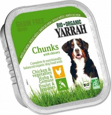 Yarrah bouchées sans céréales bio pour chien