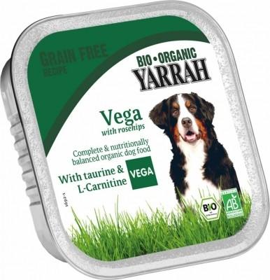Yarrah bouchées végétariennes sans céréales bio pour chien