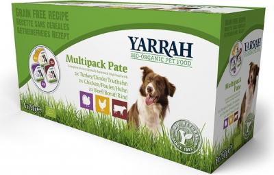 Yarrah Multipack pâtées bio sans céréales pour chien