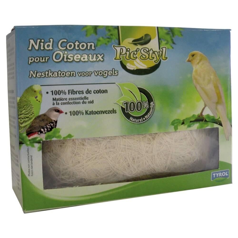 nid coton pour oiseaux fibre 100 naturelle accessoires pour oiseaux. Black Bedroom Furniture Sets. Home Design Ideas