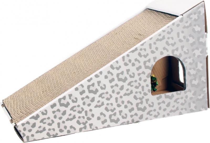 Griffoir en carton pour chat Zolia TOUFOU + Herbe à chats incluse