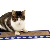 Griffoir en carton pour chat ZOLIA TIPLOUF + Herbe à chats incluse
