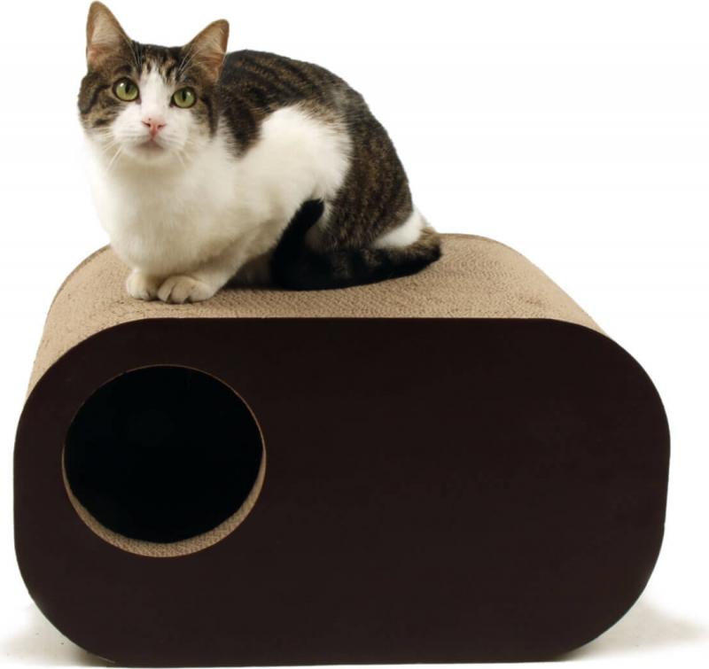 griffoir en carton pour chat zolia nobu herbe chats incluse. Black Bedroom Furniture Sets. Home Design Ideas