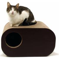 Griffoir en carton pour chat ZOLIA NOBU + herbe à chats incluse