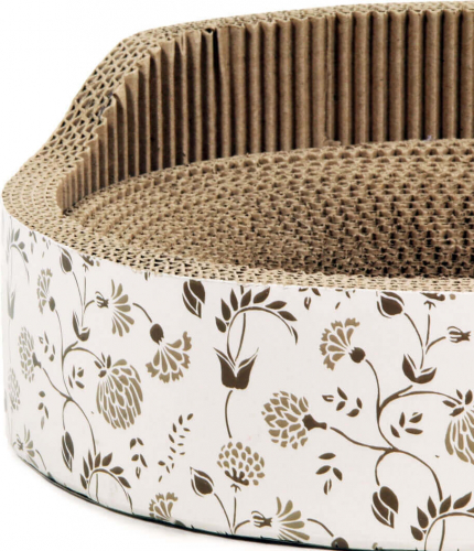 kratzm bel zolia florette aus wellpappe mit katzenminze. Black Bedroom Furniture Sets. Home Design Ideas
