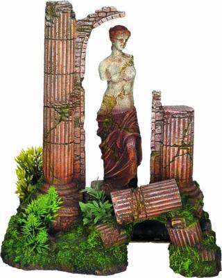 Dekor Aquarium Götter und antike Säule