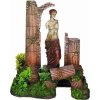 Decoración para acuario Dios y Columna Antigua
