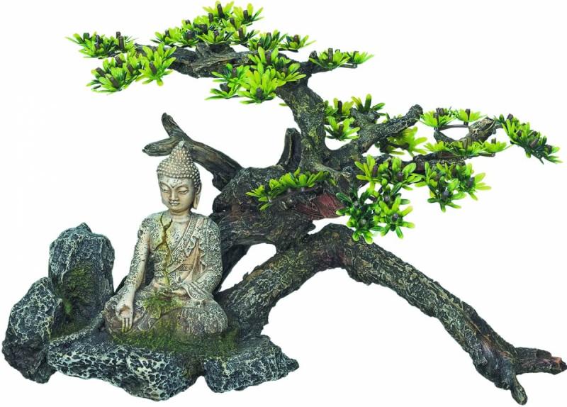 Décoration Aquarium Bouddha Avec Plantes
