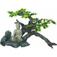 Aquariendekoration Buddha mit Planzen