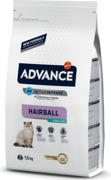 Advance Sterilized Hairball au poulet pour Chat Adulte Stérilisé