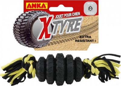 Jouet pour chien Méga Pneu XTyre avec corde à noeuds
