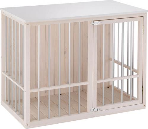 hundeh tte f r innen dog fort aus kiefer hundeh tten. Black Bedroom Furniture Sets. Home Design Ideas