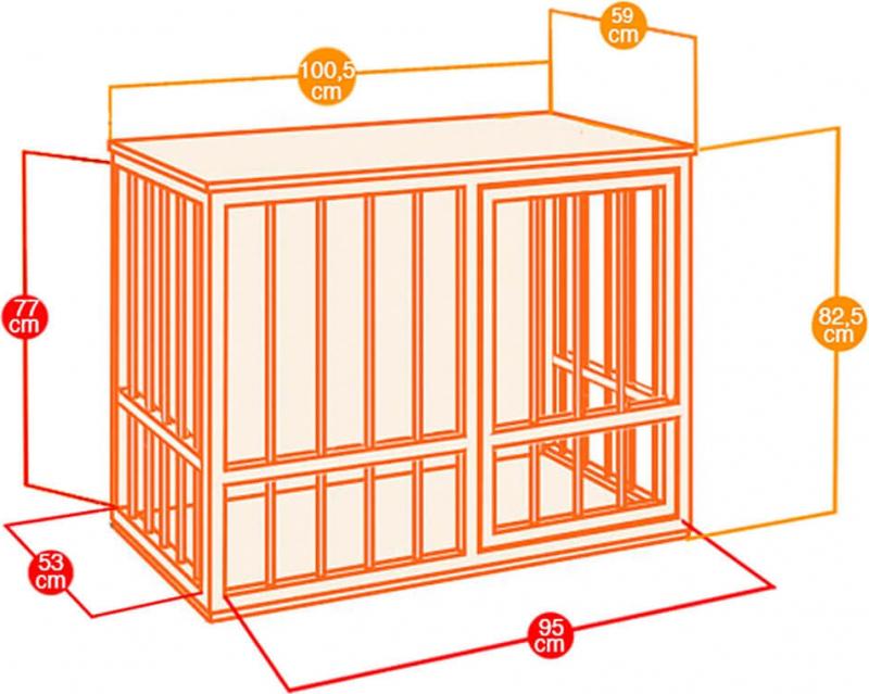 hundeh tte f r innen dog fort aus kiefer. Black Bedroom Furniture Sets. Home Design Ideas