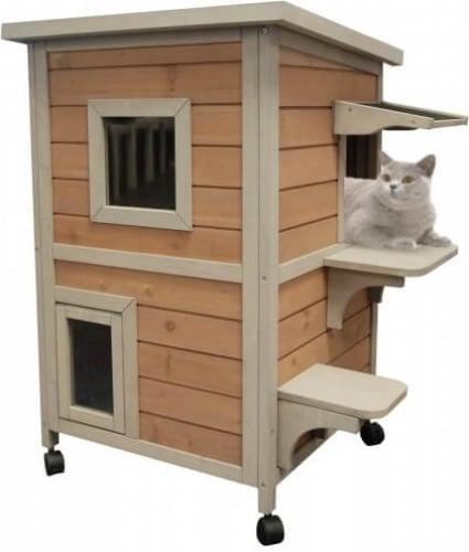 maison pour chat d 39 ext rieur cat home sur roues. Black Bedroom Furniture Sets. Home Design Ideas