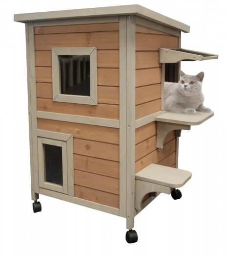 Maison exterieur chat ventana blog - Cabane chat exterieur ...