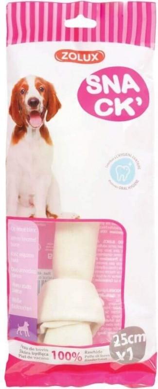 Os à mâcher noué blanc pour chien