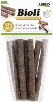 Bioli - Sticks à mâcher à la panse verte pour chien
