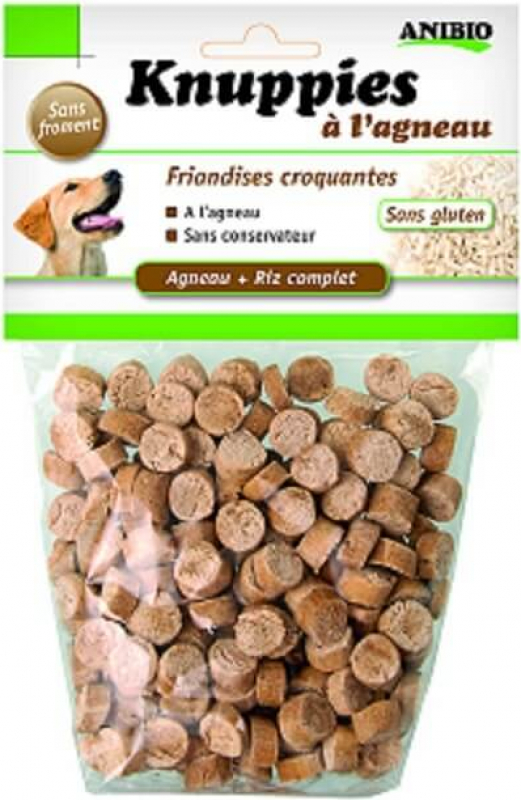 Knuppies - Snacks pour chien à l'agneau BIO