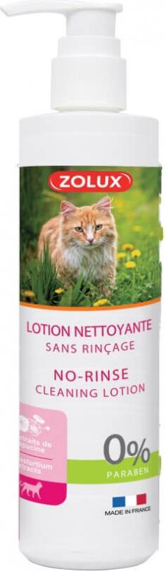 Lotion sans rinçage pour chat