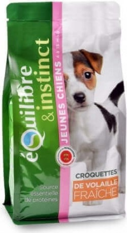 Equilibre & Instinct Croquettes pour jeunes chiens à la Volaille Fraîche