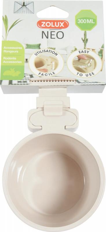 Mangeoire plastique pour rongeur NEO beige