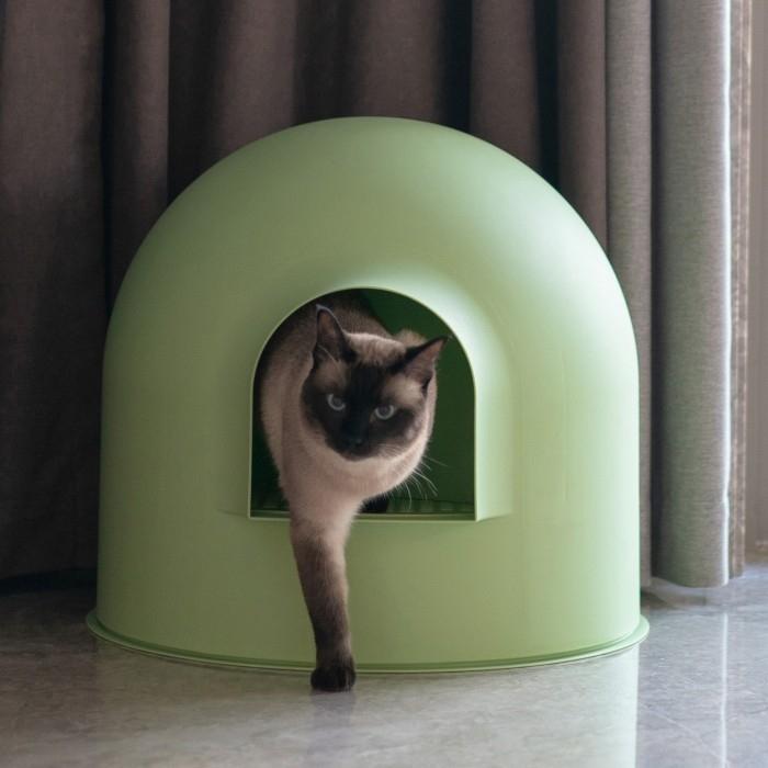 Maison de toilette Pidan Igloo avec pelle - Plusieurs coloris