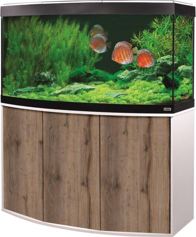 Aquarium et meuble Fluval Vicenza LED 260L couleur Chêne et Blanc