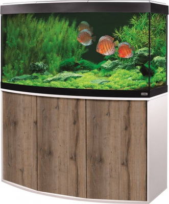 Acuario y Mueble Fluval Vincenza LED 260L color roble y blanco
