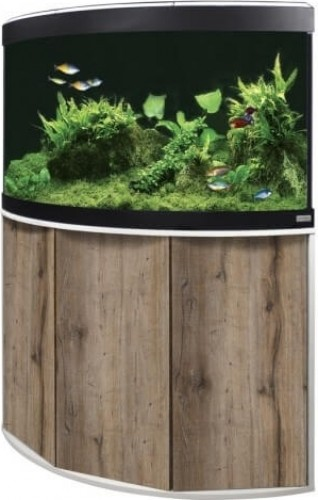 aquarium et meuble dangle fluval venezia led 190l couleur chne et blanc