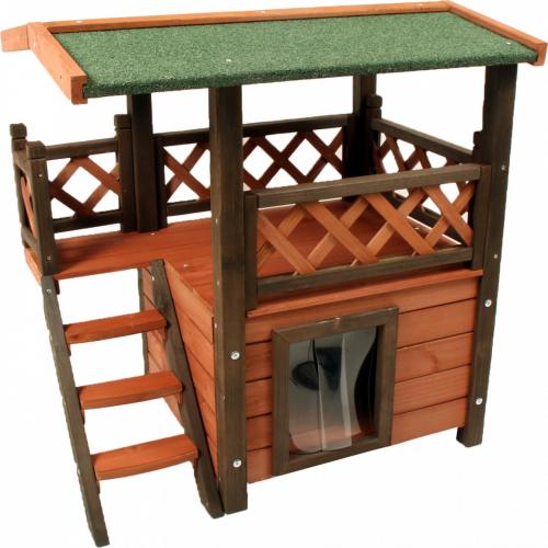maisonnette pour chat miky lodge zolia couchage pour chat. Black Bedroom Furniture Sets. Home Design Ideas