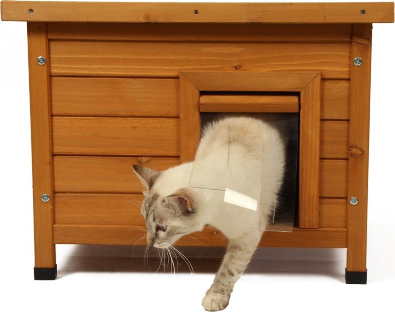 Casita para gato de madera TWIXIE de ZOLIA