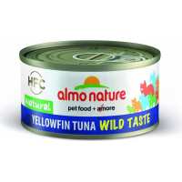Pâtée Almo Nature HFC Wild Taste au Thon Sauvage pour Chat - en Gelée ou Naturelle