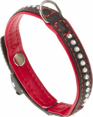 Collier Lux noir & rouge
