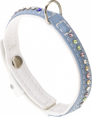 Collier Lux turquoise & blanc
