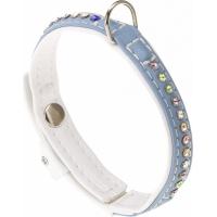 Halsband Lux weiß/ türkis