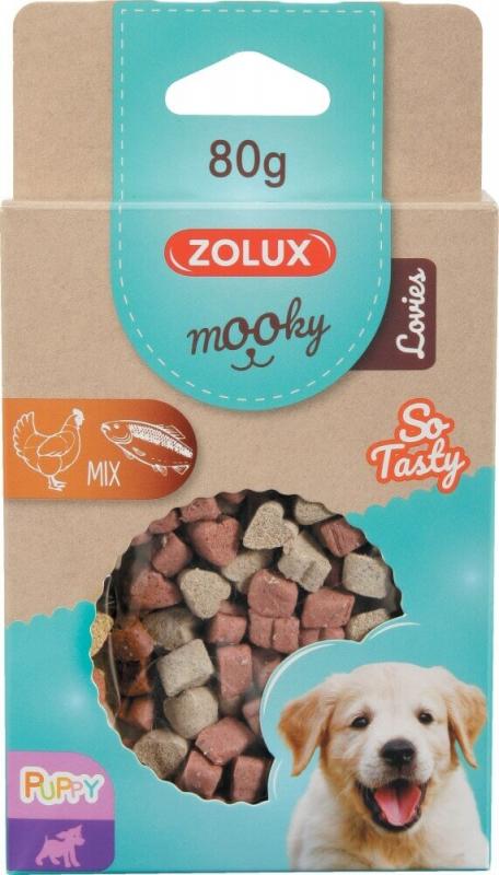 Friandise pour chiot MOOKY mini coeur mix poulet et saumon