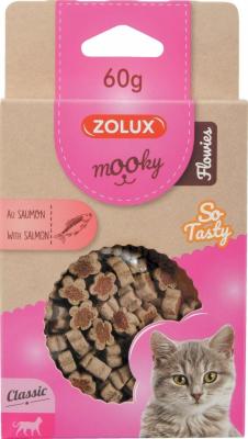 Friandise pour chat MOOKY Mini fleurs au saumon