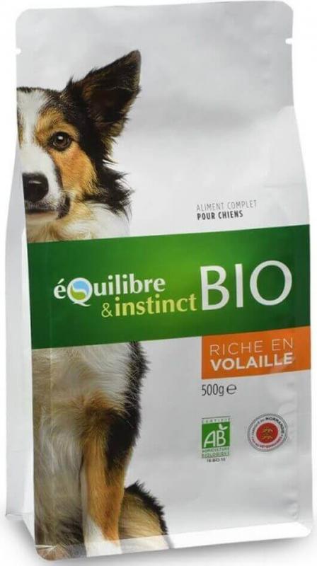 Equilibre & Instinct Croquettes BIO pour chien adulte volaille fraîche