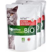 Pâtée BIO Equilibre & Instinct Mitonnés pour chat adulte boeuf et légumes