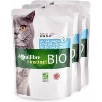 Pâtée BIO Equilibre & Instinct Mitonné pour chat adulte saumon et légumes