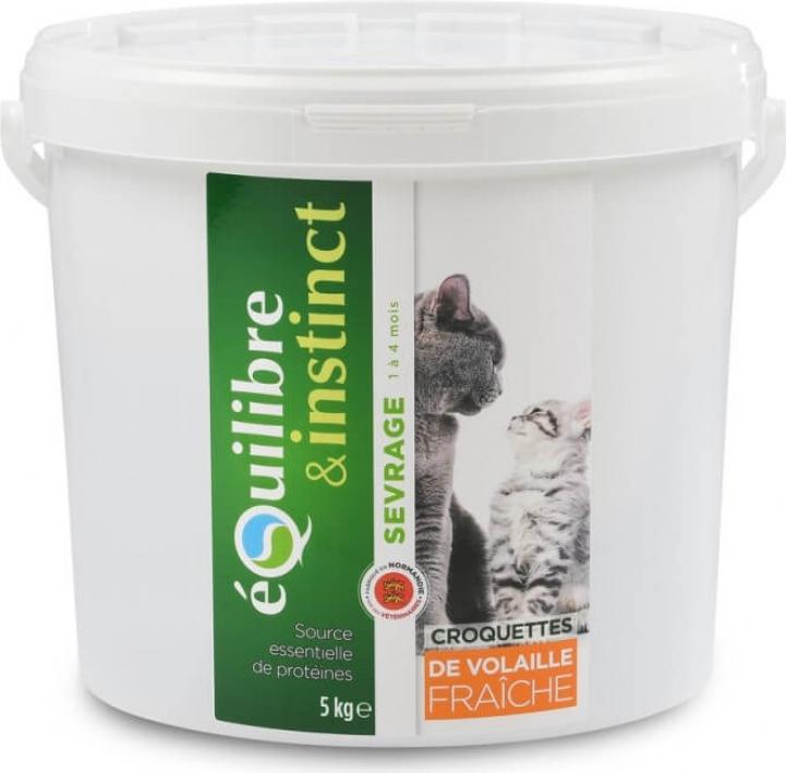 Equilibre & Instinct Croquettes de sevrage pour chaton volaille fraîche