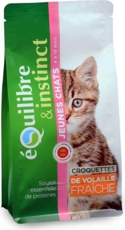Equilibre & Instinct Croquettes pour jeune chat volaille fraîche