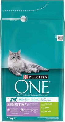 Purina ONE Sensitive Croquettes pour Chat Saumon et riz