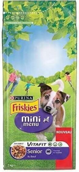 Croquettes Friskies Mini Menu pour chien Senior