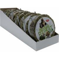 TYROL Friandise Palet Compressé Luzerne et Basilic Acti'Cake Digest pour Rongeur et Lapin, Rich en Fibres, Digestion, Support pour cage inclus. 100G
